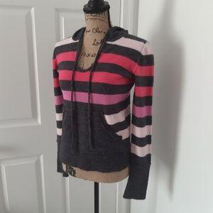 🔥dELIA*s hoodie stripes sweater cowled